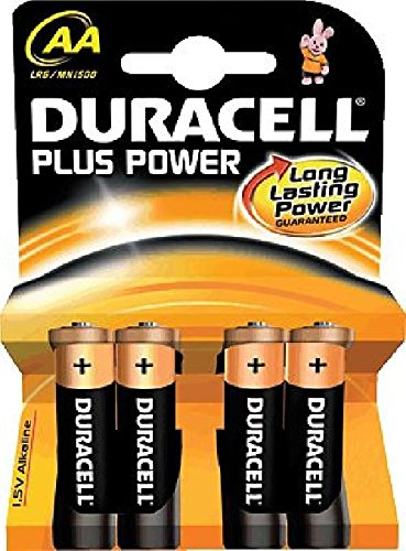 Duracell 017641 Alkaline 1,5 V non-rechargeable battery – non-rechargeable Batteries (Alkaline, Cylindrical, 1.5 V, 4 pc (s), AA, blister)