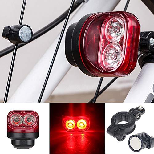 ENticerowts Fahrrad-Rücklicht, magnetisch, Induktionslicht, Sicherheitswarnung, zum Laufen, Radfahren, Wandern, Beleuchtung für Werkzeug, Rot
