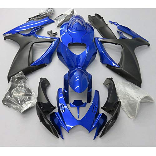 ZXMOTO Blue & Matt Black Fairing Kit for 2006 2007 Suzuki GSXR 600 GSXR 750 K6