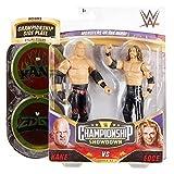 WWE Serie Campeonato Pack 2 figuras Kane y Edge, muñecos articulados de juguete con accesorios (Mattel GVJ19)