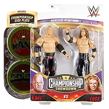 WWE Kane vs Edge Championship Showdown 2-Pack 6-in / 15.24-cm Action Figures Monsters of the Ring Battle Pack for Ages 6…