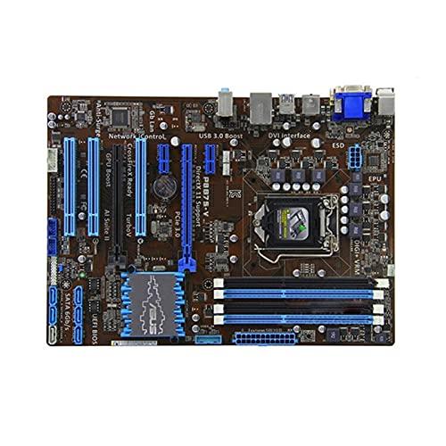 YLYWCG Placa Base de computadora Apta para ASUS P8B75-V DDR3 Placa Base de computadora LGA 1155 para Intel B75 P8B75 Placa Base de Escritorio SATA II PCI-E X16