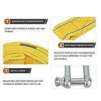 カートレーラー牽引ロープ強力牽引ロープ高強度チューブキットスイング用クライミング用セーリング用8トン(yellow)