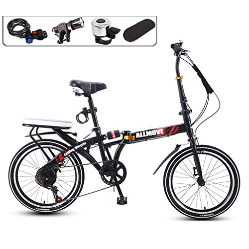 Learn More About TXTC Folding Bike, City Bike, Womens Bicycles Featuring Water Bottle Holder, Shock-...