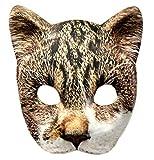 VENTURA TRADING AM3 Máscara de Gato Tigre Gato Mascara Facial Mascara Veneciana Mascarada Partido Máscara de Animal