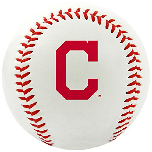 Rawlings MLB Cleveland Indians Team Logo Baseball, Official, White