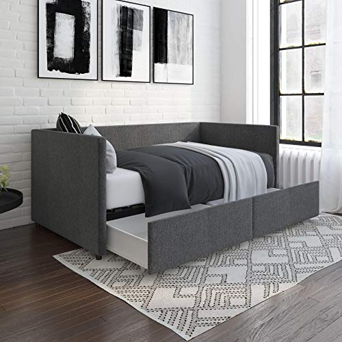 DHP Daybed with Storage Drawers, Twin, Grey