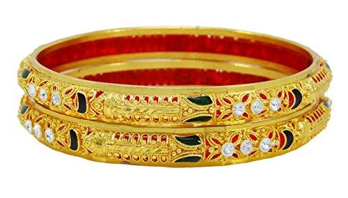 Banithani Ethnischen Indischen Vergoldetes Traditionellen Kada Armreif Armband Brautschmuck Sz 2 * 4