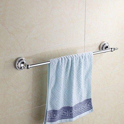 MBYW toallero de Gran Capacidad de Carga Toallero de baño de Moda Barra de Toalla del Estante de la Toalla del Estante de la Toalla del Acero Inoxidable del Polo de la Porcelana Azul y Blanca