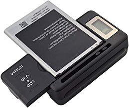 Universal LCD Battery Charger, Travel chargering for Samsung Galaxy S3 S4 S5 Note 2 3 4, Edge, Mega, LG, Huawei, HTC, ZTE, etc