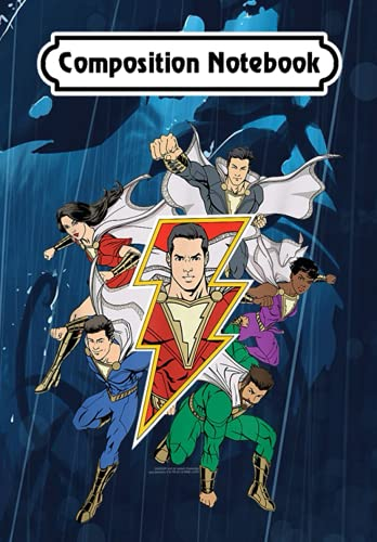 Composition Notebook: Shazam Movie Shazam Family, Journal 6 x 9, 100 Page Blank Lined Paperback Journal/Notebook
