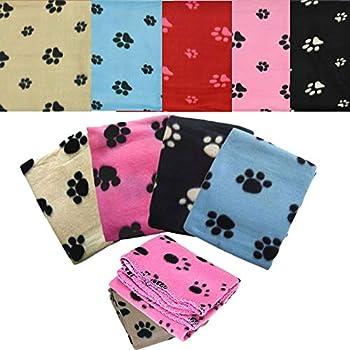 Pet Living Lot de 3 couvertures en Polaire Douce pour Chiot et Chat 70 cm - 73 cm