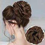 Beauty Shopping MORICA 1PCS Messy Hair Bun Hair Scrunchies Extension Curly Wavy Messy Synthetic Chignon
