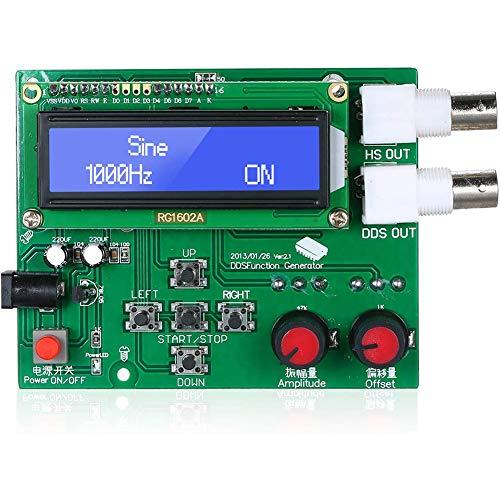 DDS Fonction Sinus Module générateur de Dents de scie Triangle carré Onde Basse fréquence LCD Affichage numérique Bricolage Module,Vert