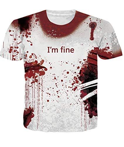 Fanient Herren Damen Aufdruck T-Shirt Rundhals Tee S M L XL XXL, Shark, M