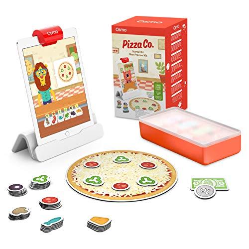 Osmo Pizza Co. Starter Kit-Edad 5-12-Habilidades de comunicación y matemáticas iPad Base Incluido (901-00043)