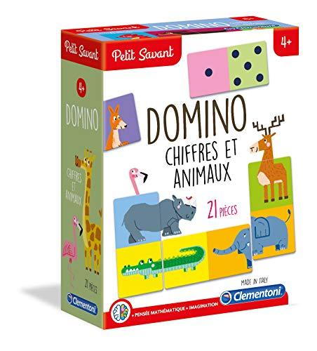 Clementoni- Pequeño SanteDomino Números y Animales, Multicolor 52360