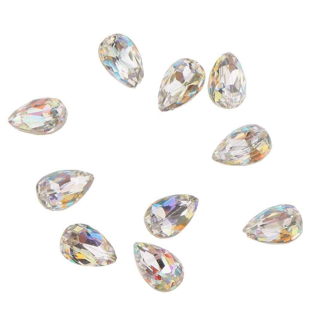 渦矛盾火Fenteer 10個 ネイルアート 3D ネイルチャーム ガラス キラキラ おしゃれ ダイヤモンドチップ 装飾 美しい爪 魅力 5タイプ選べ - A