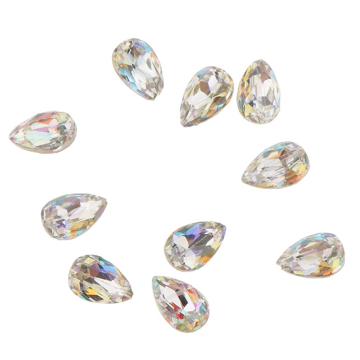 エンジン散逸常習的Fenteer 10個 ネイルアート 3D ネイルチャーム ガラス キラキラ おしゃれ ダイヤモンドチップ 装飾 美しい爪 魅力 5タイプ選べ - A