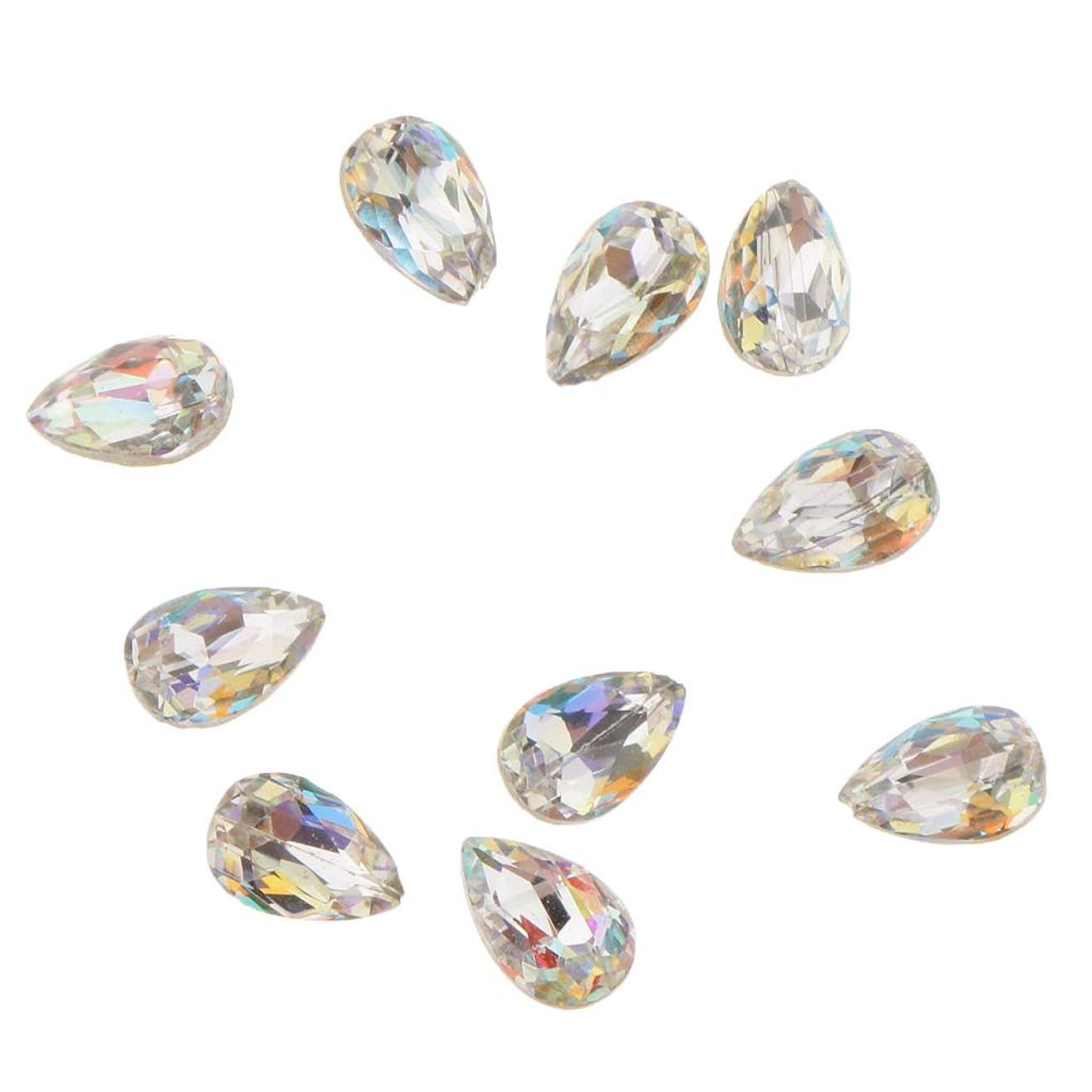 副産物テントこしょうFenteer 10個 ネイルアート 3D ネイルチャーム ガラス キラキラ おしゃれ ダイヤモンドチップ 装飾 美しい爪 魅力 5タイプ選べ - A