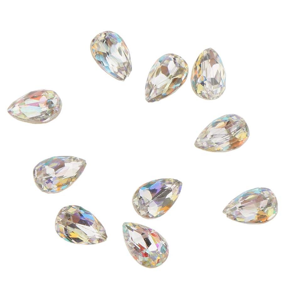 いつでも完璧読書をするFenteer 10個 ネイルアート 3D ネイルチャーム ガラス キラキラ おしゃれ ダイヤモンドチップ 装飾 美しい爪 魅力 5タイプ選べ - A