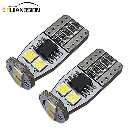 Ruiandsion 2 x T10 194 168 CANBUS LED Intérieur ampoules AC 12–18 V 3030, Blanc Blanc ampoules LED pour voiture Intérieur dôme Porte Carte Courtois Feux de plaque d'immatriculation