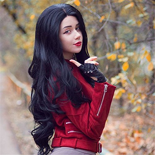 HEAHAIR Black Wave Synthetic Lace Front Wigs HS3035