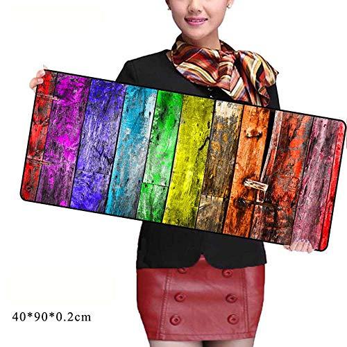 HonGHUAHUI Kleurrijke houten muismat geblokkeerde rand-Notbook-computerspel-ondersteuning-toetsenbord matten 300x600X2MM A02