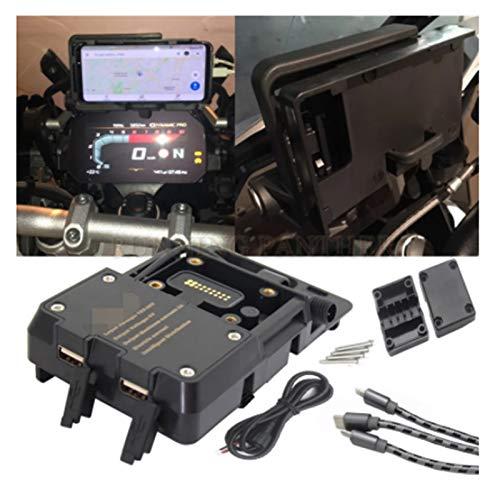 GUODONG Dong Store USB Motocicleta Titular del teléfono móvil del Cargador del GPS Moto Soporte Soporte en Forma for BMW R1200GS R1200 GS