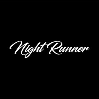 Car Bumper Window Stickers Decals Interesting Night Runner Graphics Vinyl Car-Styling Car Sticker Decal 18CM3.8CM 2 pcs