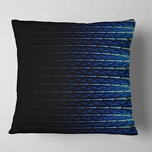 Designart Blue Symmetrical Fractal Flower Abstract Throw Cushion Pillow Cover For Living Room Sofa 26 In X 26 In Shefinds