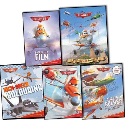 Disney Planes 5 Books Collection Pack Set RRP: 26.95 (Disney Planes Sticker ...
