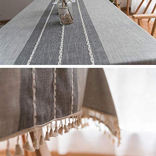 Mantel de color puro de color puro mantel de algodón y lino nórdico utilizado para mesa de café anti-escaldado mesa de café, mantel,mantel puro, mantel impermeable-gray||120 * 120