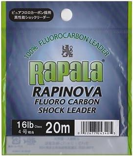 Rapala(ラパラ) リーダー ラピノヴァ ショックリーダー フロロカーボン 20m クリア RFL20M