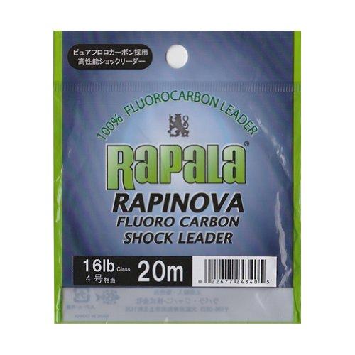 ラパラ ショックリーダー ラピノヴァ フロロカーボン 0m 4.0号 16lb クリア RFL0M16