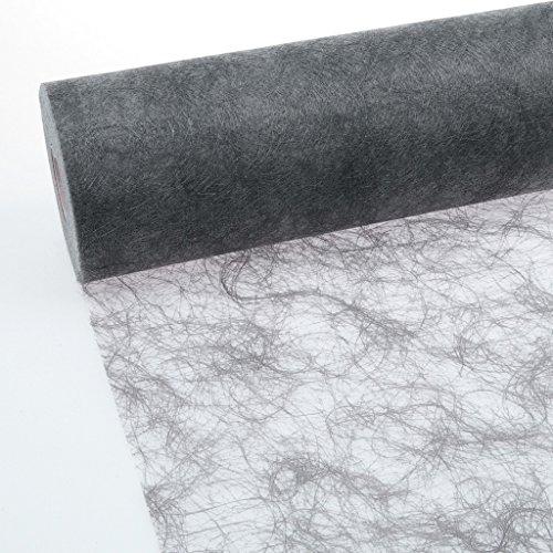 Deko AS GmbH Sizoflor Tischband dunkelgrau 30 cm Rolle 25 Meter - 60-300-25-032
