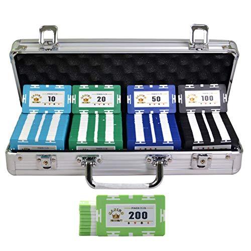 Bueuwe Casino Poker Chip Set Pokerset Mit Aluminiumgehäuse, 32 Gramm Rechteck Composite Poker Chips Für Texas Holdem Blackjack Gambling,A,100PCS
