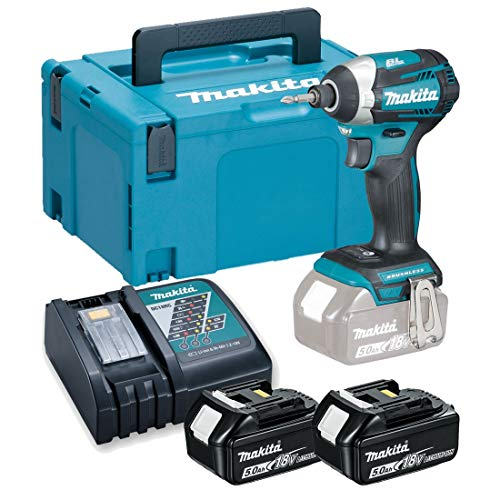 MAKITA 0088381824200 atornillador, 290 W, 18 V, Negro, Con 2x Batería 5,0 Ah