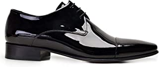 6065-172 PIY-SIYAH RUGAN 110 Nevzat Onay Bağcıklı Siyah Kösele Deri Erkek Ayakkabı