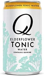Q Mixers Elderflower Tonic Water, Premium Cocktail Mixer, 7.5 oz (12 Cans)