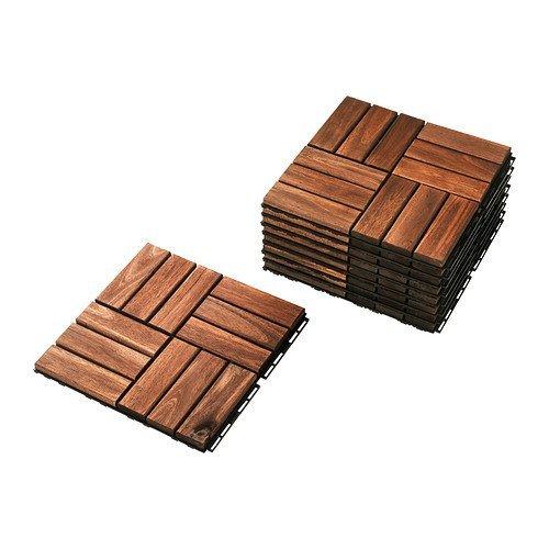 Ikea RUNNEN Bodenrost aus massiver Akazie; 9 Teile; für außen; PLATTA Nachfolger