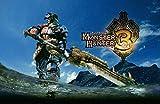 XYDH 1000 Piezas Rompecabezas De Tablero De Madera,Videojuego Monster Hunter 3 Obra de Arte de Juego de Rompecabezas para Adulto, Juego de Rompecabezas y Juego Familiar/75x50CM