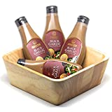 Homtiem Black Garlic Mayonnaise 7.04 Oz (200g.),(Pack of 4, Total of 28.16 Oz) with Wooden Salad...