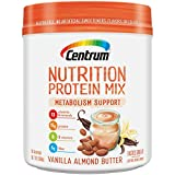 Centrum Nutrition Protein Mix Metabolism Support, Vanilla Almond Butter Flavor | Gluten Free