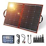 DOKIO ソーラーパネル 100w セット 折り畳み 単結晶 12v 太陽光発電キット USB(18V)出力端子 防災グッズ/車中泊/非常用電源