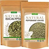 Yamees Eucalyptus and Peppermint - 6 Oz (3 Oz Each) - Dried Cut Leaves - Natural Herbal Tea - Loose Tea