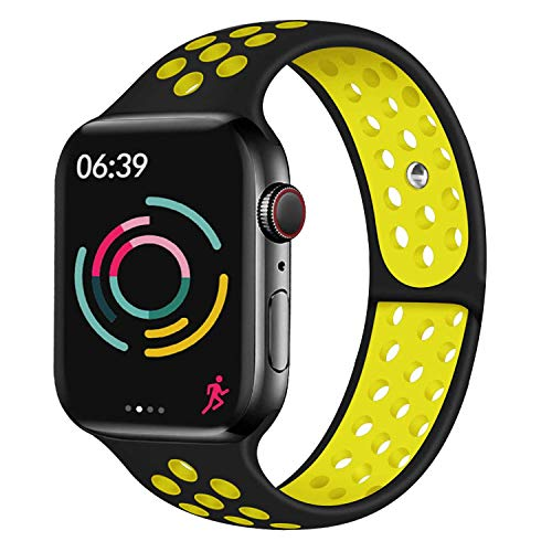 Younsea Compatible con Apple Watch Band 44mm 42mm 40mm 38mm, súper cómodo y Duradero, Banda de reemplazo de Silicona iWatch Series 5/4/3/2/1 S/M M/L