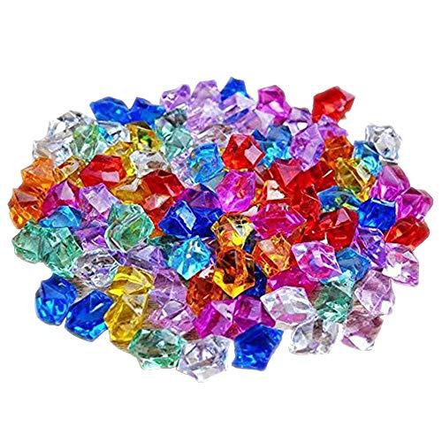 knowing 250g Gemme del Diamante Acrilico,Trasparente Matrimonio Cristallo, Artificiale Diamante Cristallo,per la Decorazione Domestica dei Regali di Cerimonia Nuziale,Colore Misto