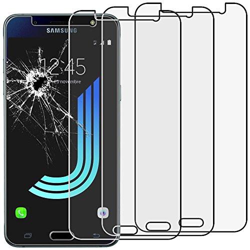 """ebestStar - [Lote x3 Cristal Templado Compatible con Samsung J5 2016 Galaxy SM-J510F Protector de Pantalla, Película Vidrio Dureza 9H Sin-Burbujas [Aparato:145.8x72.3x8.1mm 5.2""""]"""