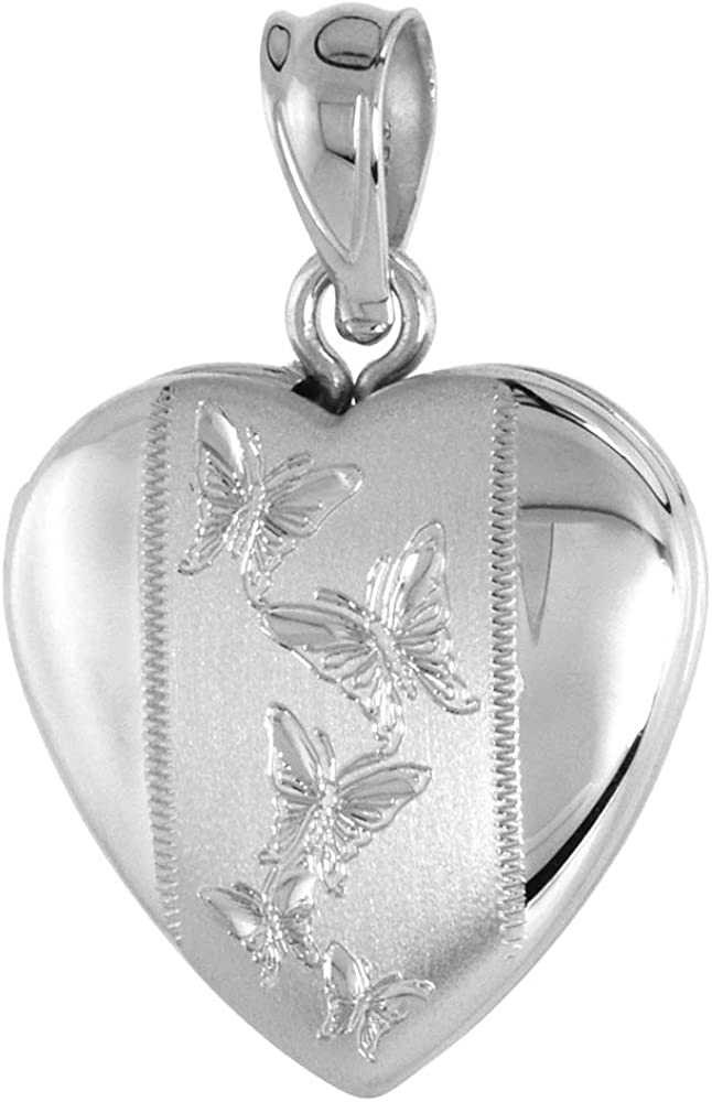 Max 61% OFF Small 5 8 Max 62% OFF inch Sterling Silver Wom Necklace Locket for Butterfly